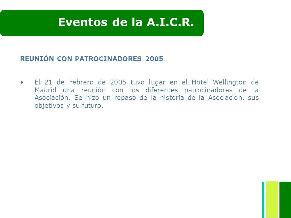 Eventos de la A.I.C.R. REUNIÓN CON PATROCINADORES 2005