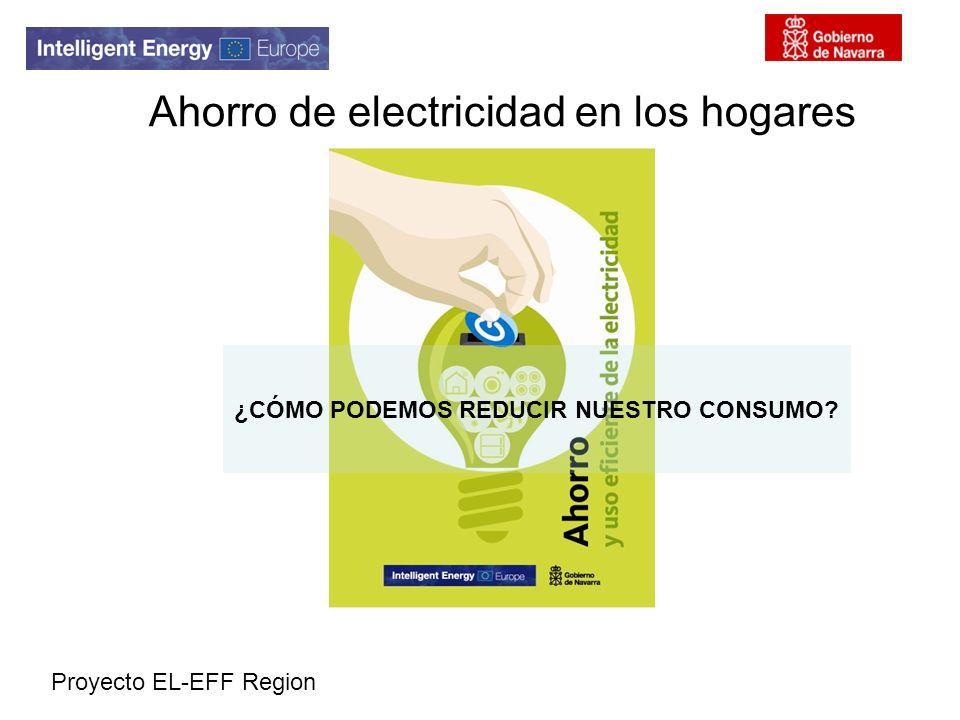 Ahorro de electricidad en los hogares