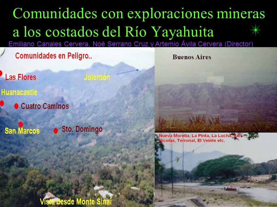 Comunidades con exploraciones mineras a los costados del Río Yayahuita