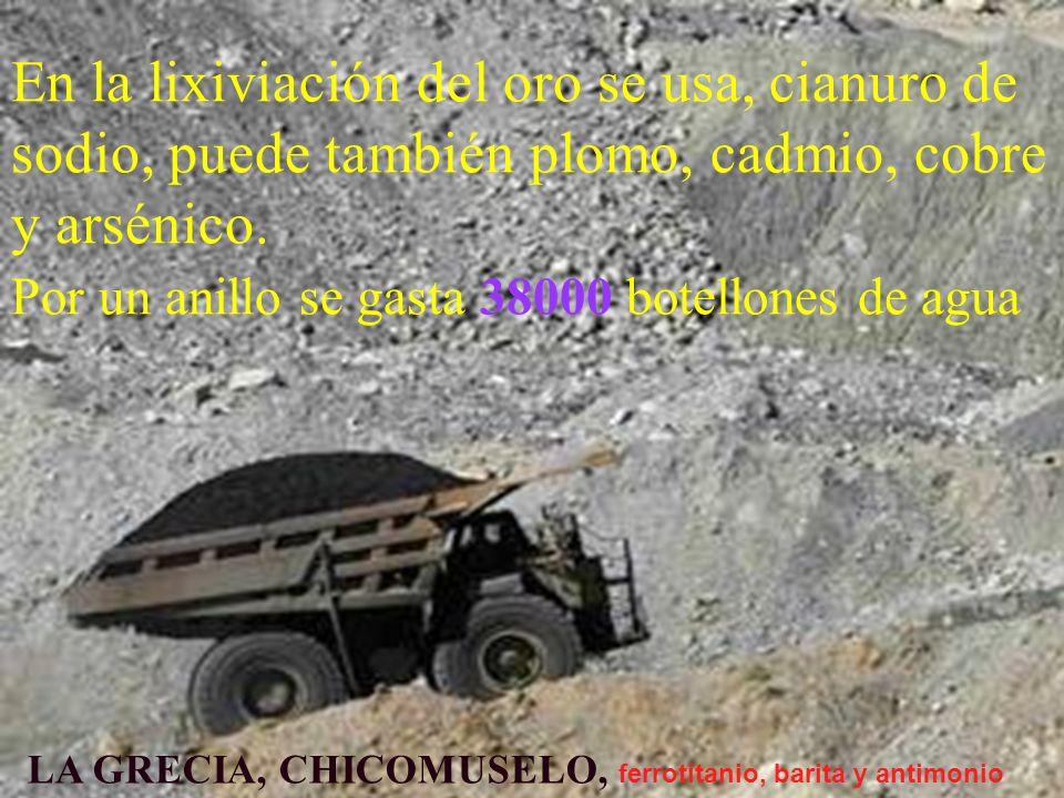 LA GRECIA, CHICOMUSELO, ferrotitanio, barita y antimonio