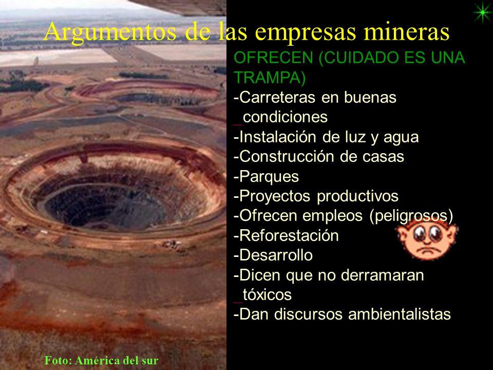 Argumentos de las empresas mineras