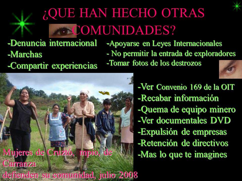 ¿QUE HAN HECHO OTRAS COMUNIDADES