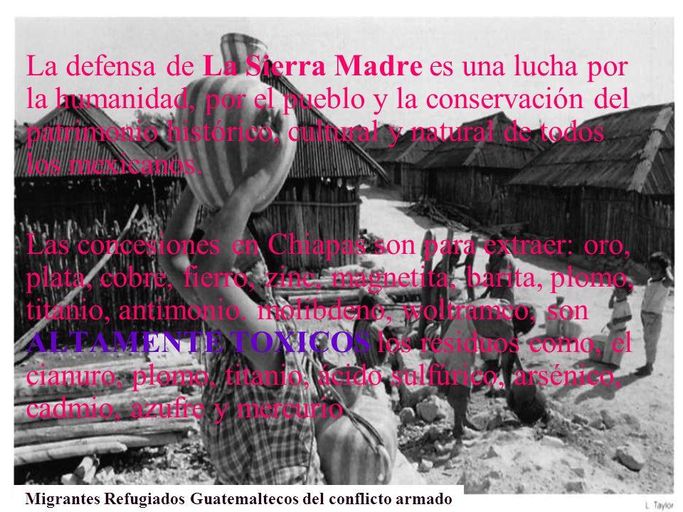 Migrantes Refugiados Guatemaltecos del conflicto armado