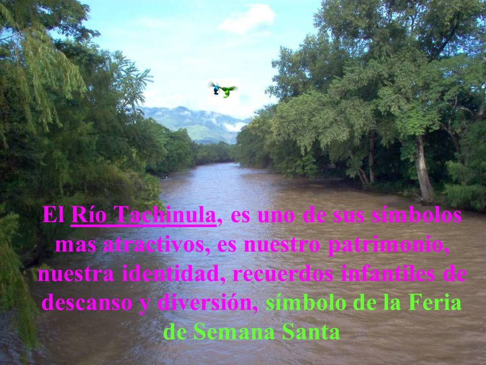 El Río Tachinula, es uno de sus símbolos mas atractivos, es nuestro patrimonio, nuestra identidad, recuerdos infantiles de descanso y diversión, símbolo de la Feria de Semana Santa