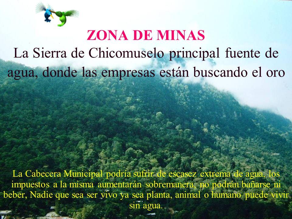 ZONA DE MINAS La Sierra de Chicomuselo principal fuente de agua, donde las empresas están buscando el oro
