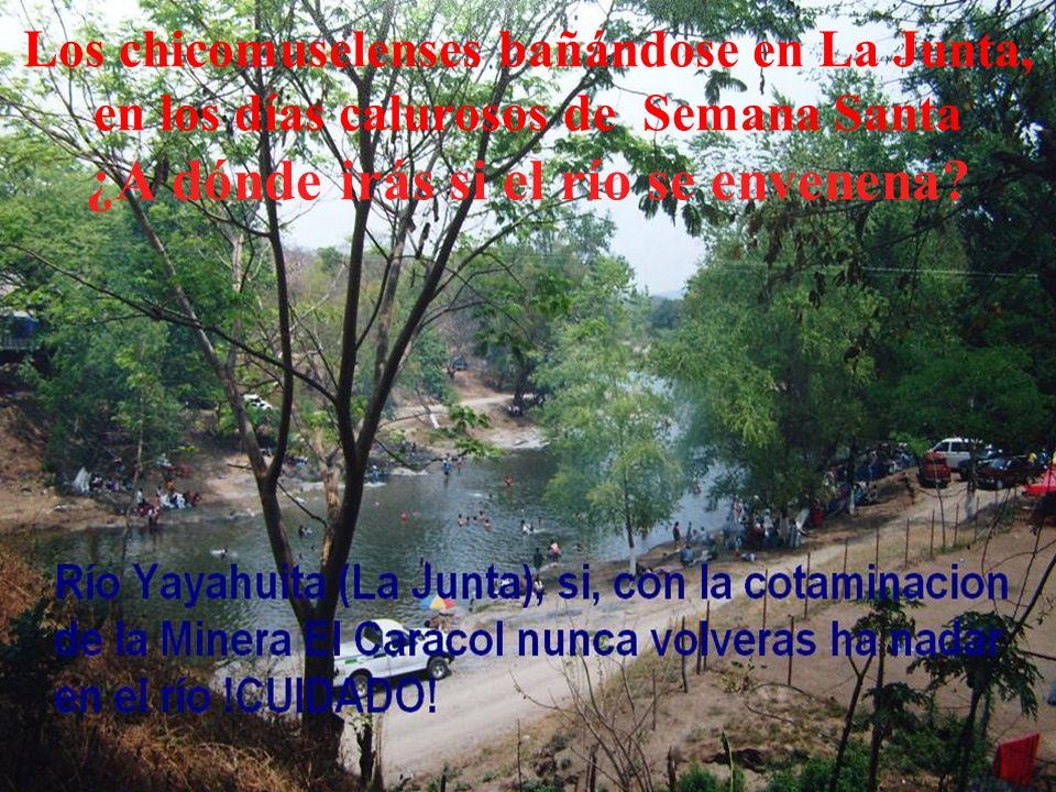 Los chicomuselenses bañándose en La Junta, en los días calurosos de Semana Santa ¿A dónde irás si el río se envenena