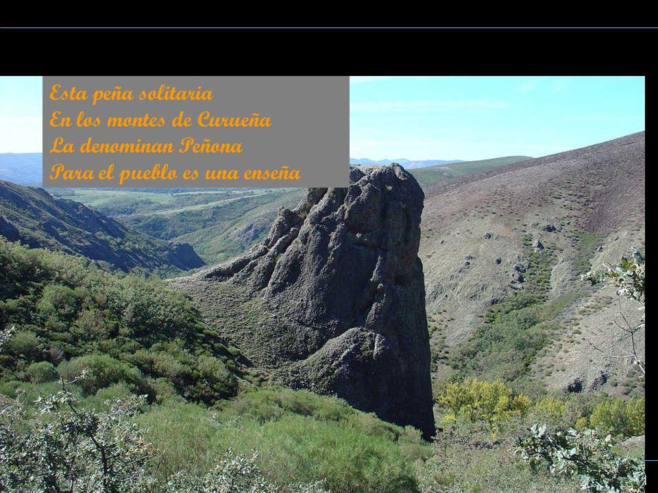 Esta peña solitaria En los montes de Curueña. La denominan Peñona.