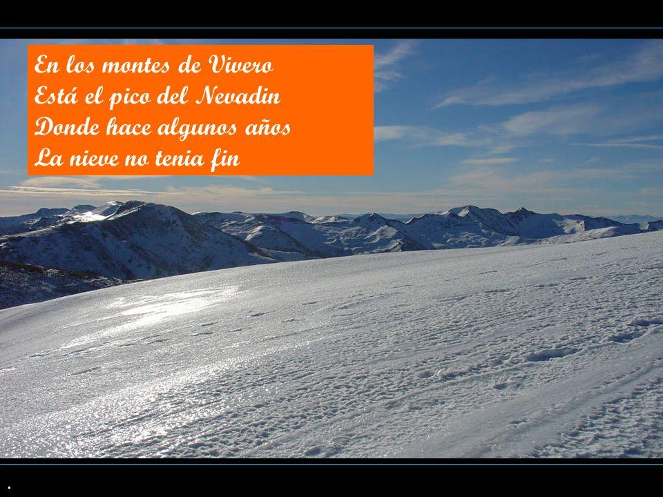 Está el pico del Nevadin Donde hace algunos años La nieve no tenia fin