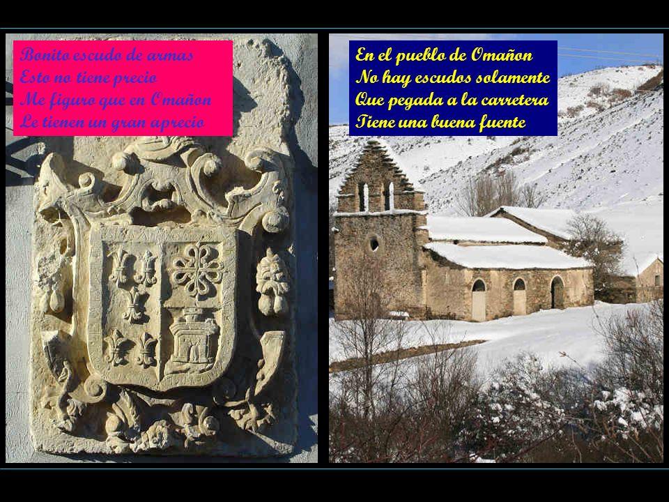 Bonito escudo de armas Esto no tiene precio. Me figuro que en Omañon. Le tienen un gran aprecio. En el pueblo de Omañon.