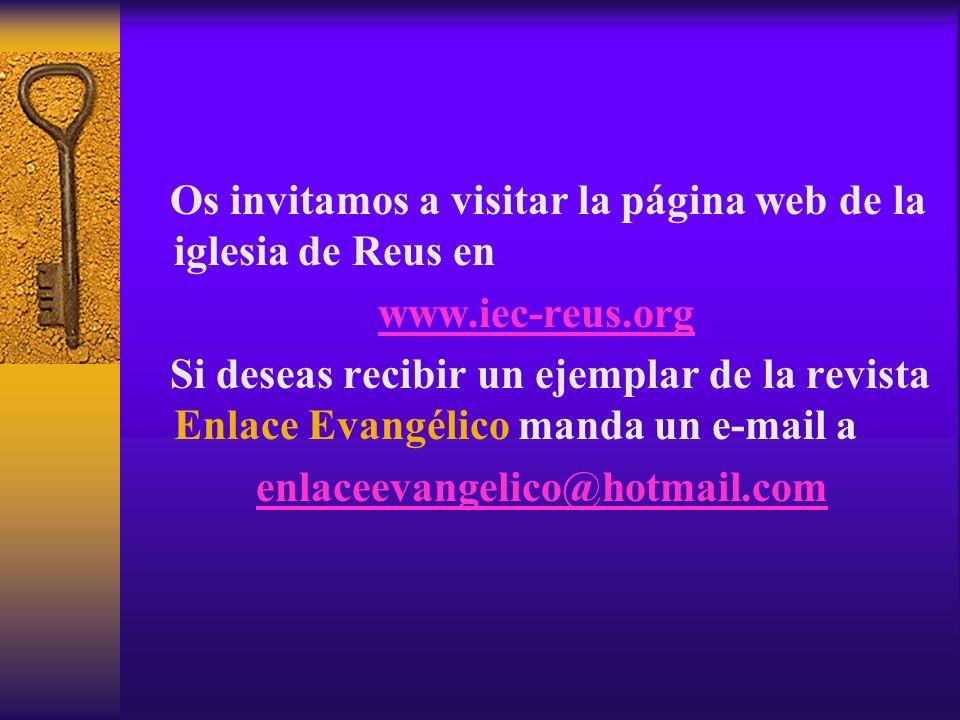 Os invitamos a visitar la página web de la iglesia de Reus en