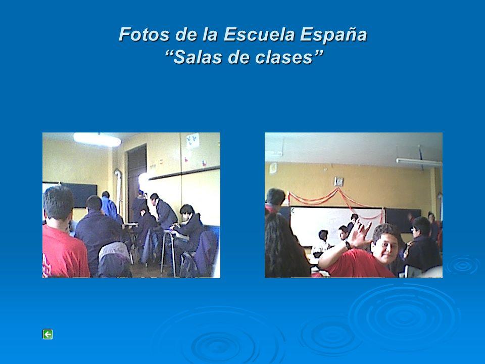 Fotos de la Escuela España Salas de clases