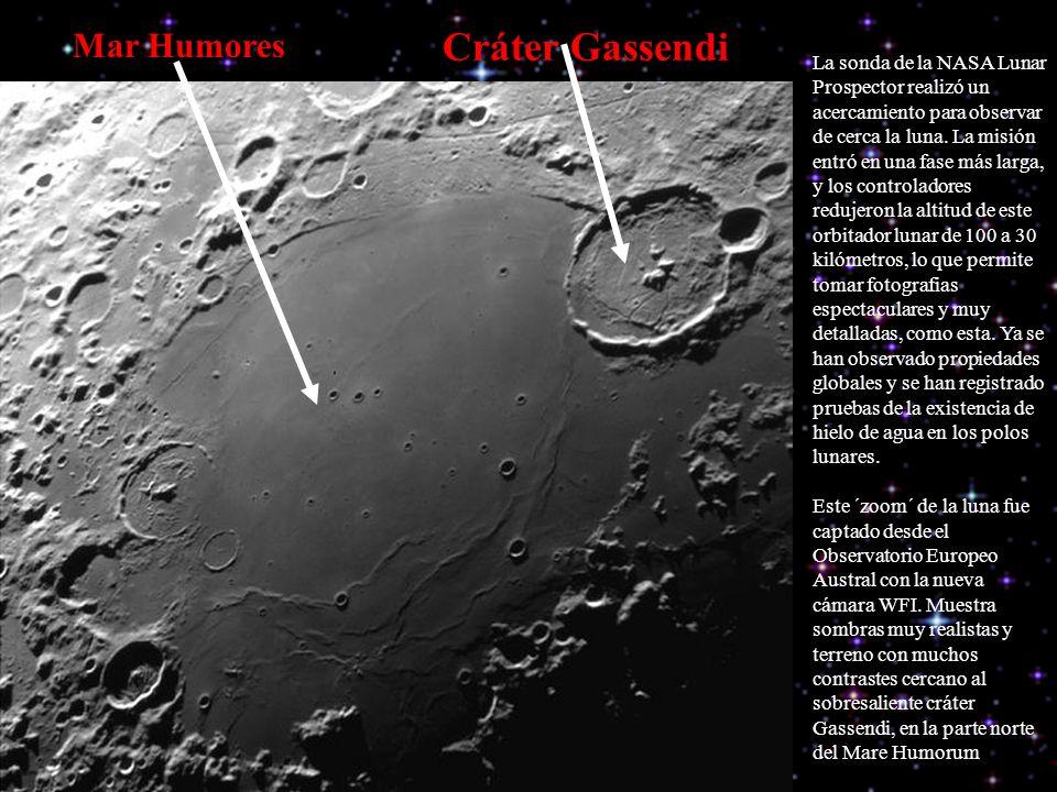 Cráter Gassendi Mar Humores