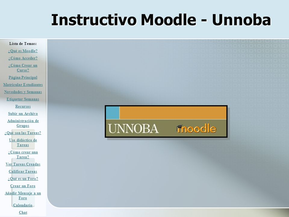 Instructivo Moodle - Unnoba