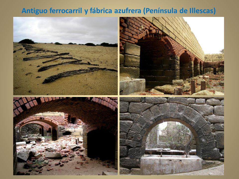 Antiguo ferrocarril y fábrica azufrera (Península de Illescas)