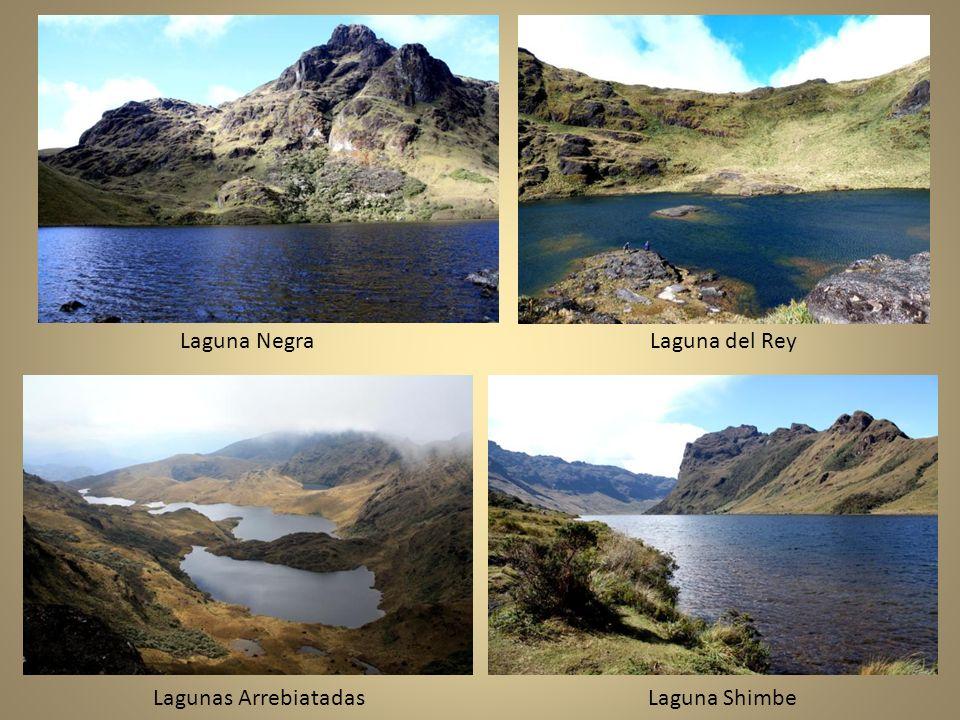 Laguna Negra Laguna del Rey Lagunas Arrebiatadas Laguna Shimbe