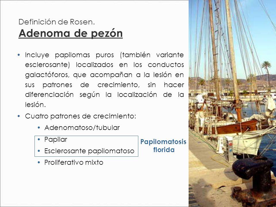 Definición de Rosen. Adenoma de pezón