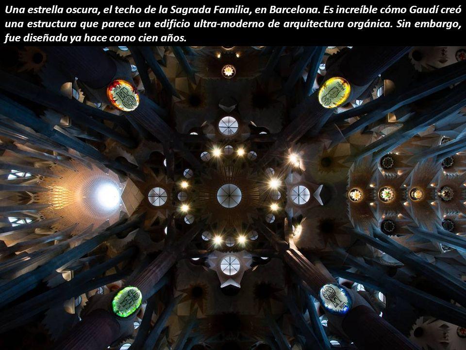 Una estrella oscura, el techo de la Sagrada Familia, en Barcelona