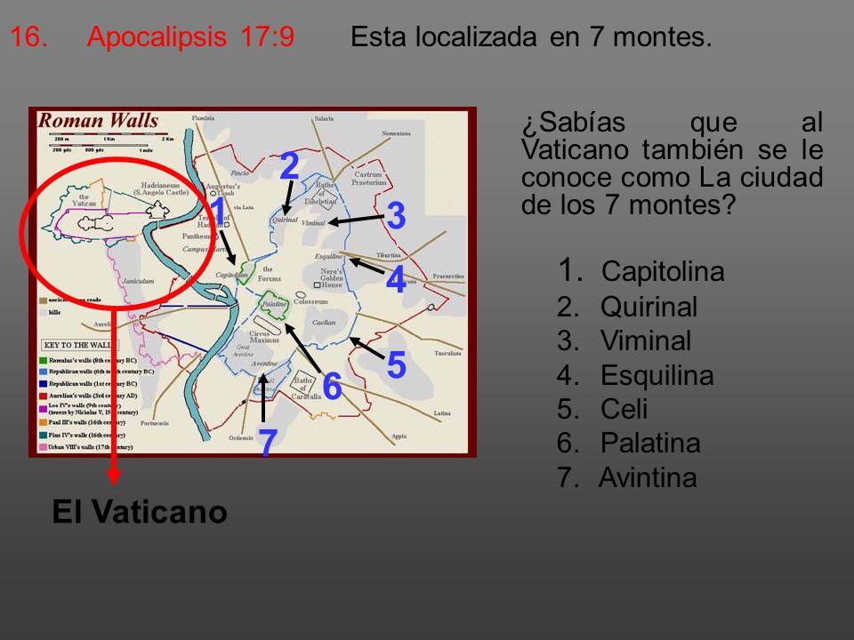 2 1 3 4 5 6 7 Capitolina El Vaticano