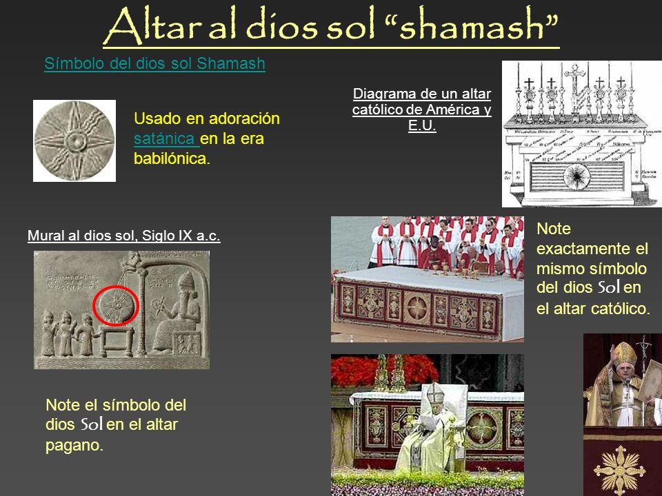 Altar al dios sol shamash