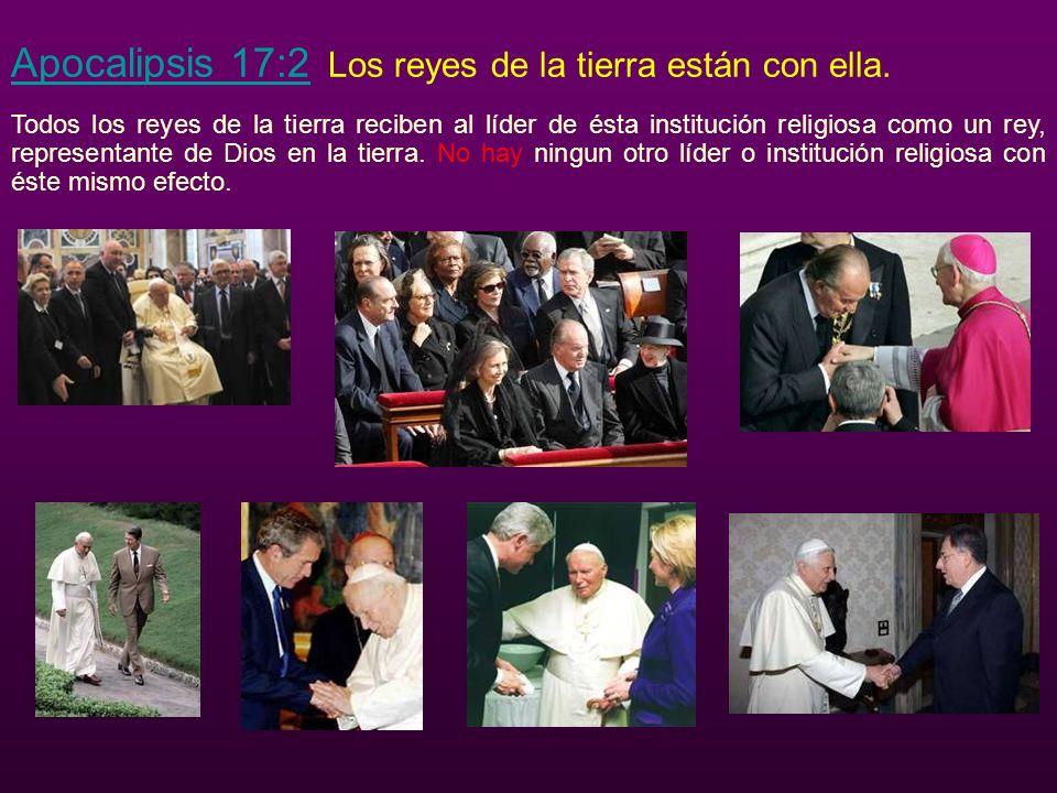 Apocalipsis 17:2 Los reyes de la tierra están con ella.