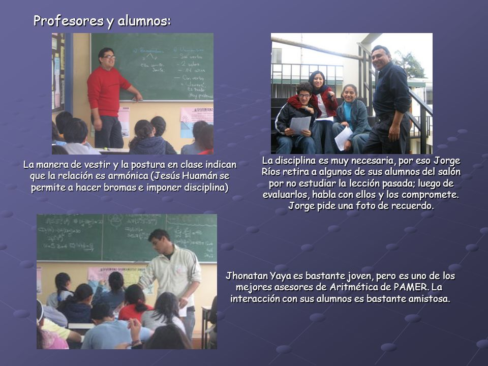 Profesores y alumnos:
