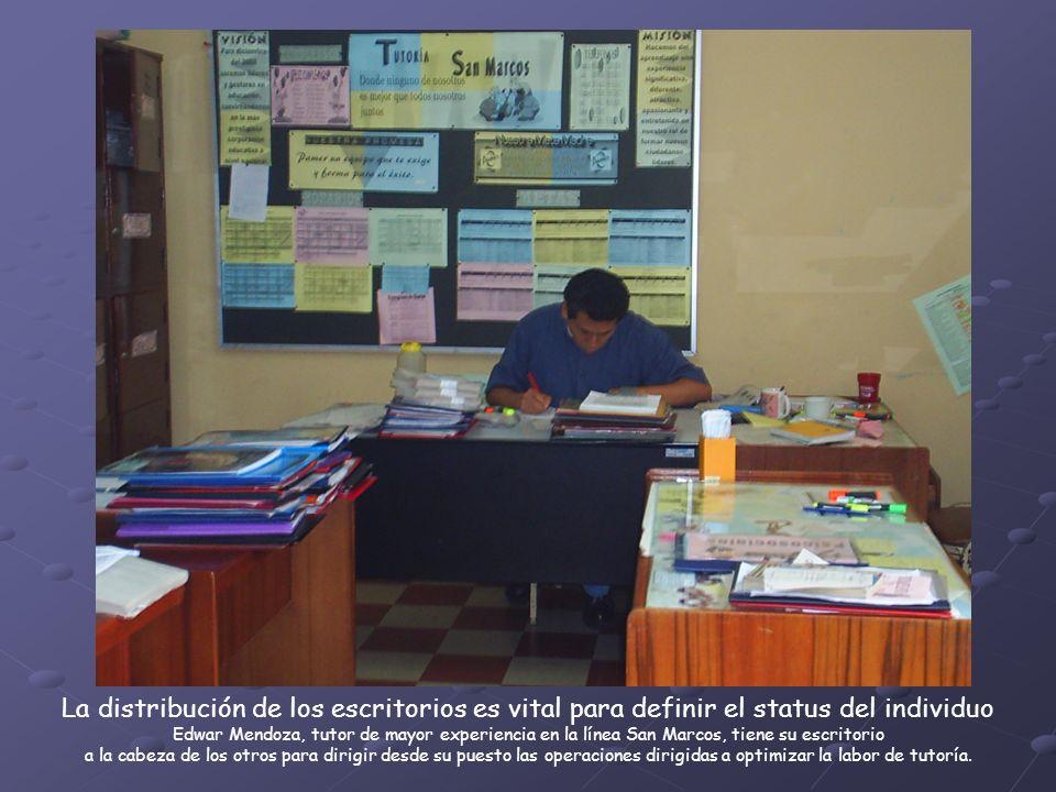La distribución de los escritorios es vital para definir el status del individuo