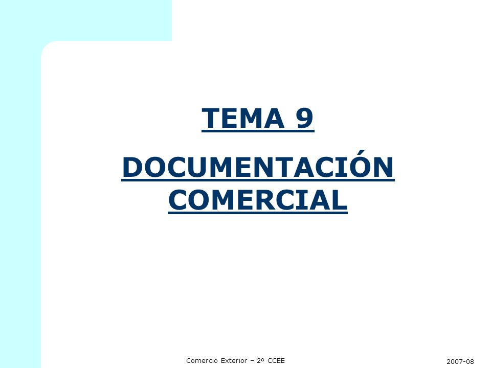 DOCUMENTACIÓN COMERCIAL