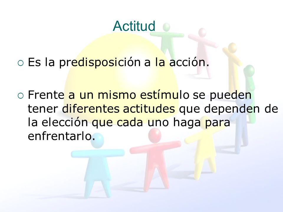 Actitud Es la predisposición a la acción.