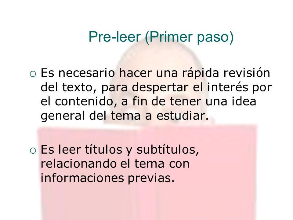 Pre-leer (Primer paso)