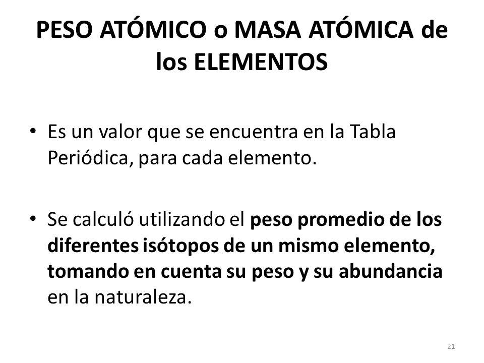 Semana 1 estructura atmica y tabla peridica qumica ppt video peso atmico o masa atmica de los elementos 22 tabla peridica urtaz Gallery