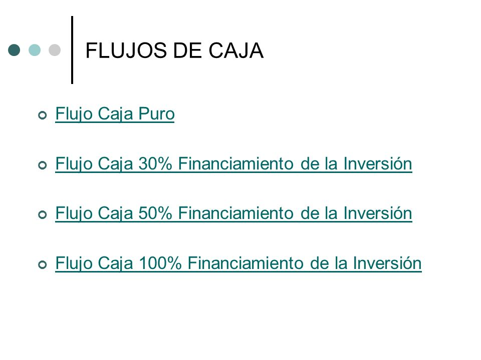 FLUJOS DE CAJA Flujo Caja Puro