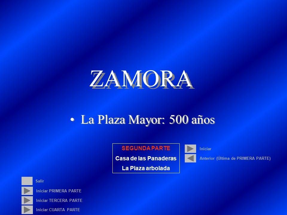 ZAMORA La Plaza Mayor: 500 años SEGUNDA PARTE Casa de las Panaderas