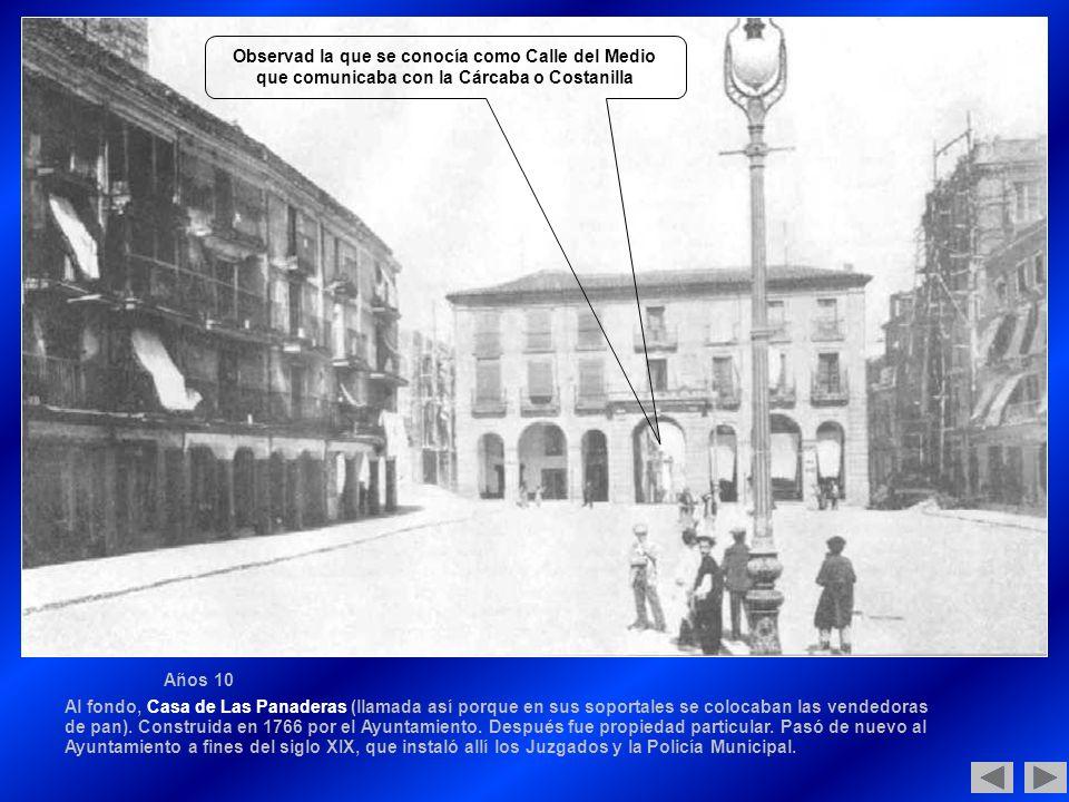 Observad la que se conocía como Calle del Medio que comunicaba con la Cárcaba o Costanilla