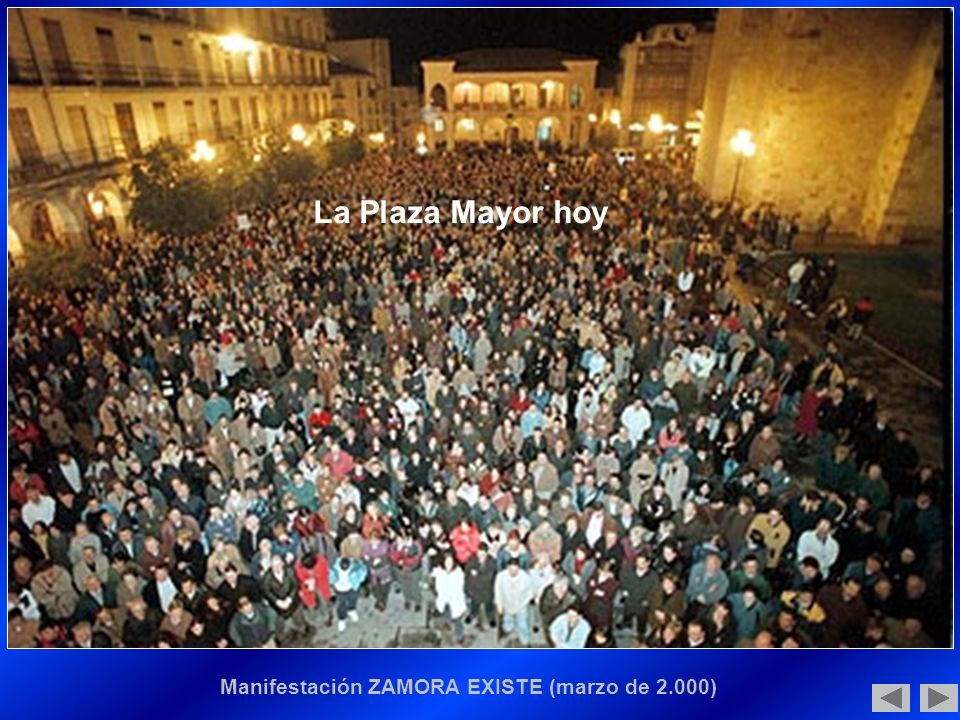 Manifestación ZAMORA EXISTE (marzo de 2.000)