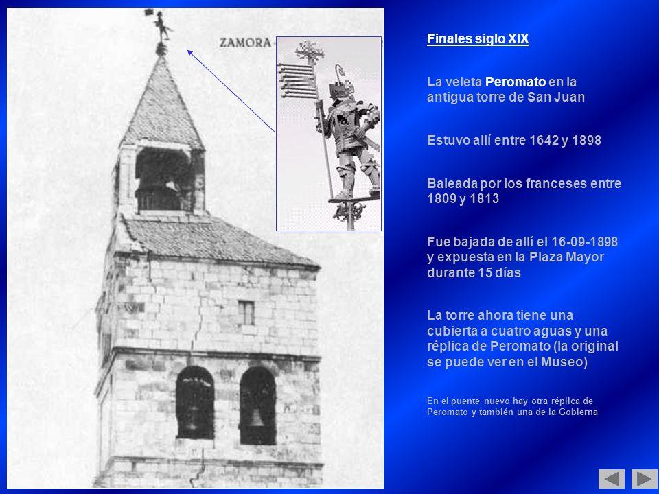 La veleta Peromato en la antigua torre de San Juan