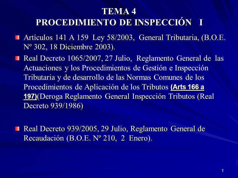 TEMA 4 PROCEDIMIENTO DE INSPECCIÓN I