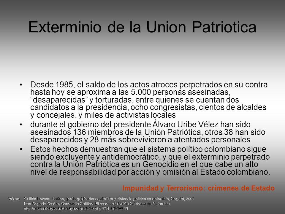 Exterminio de la Union Patriotica