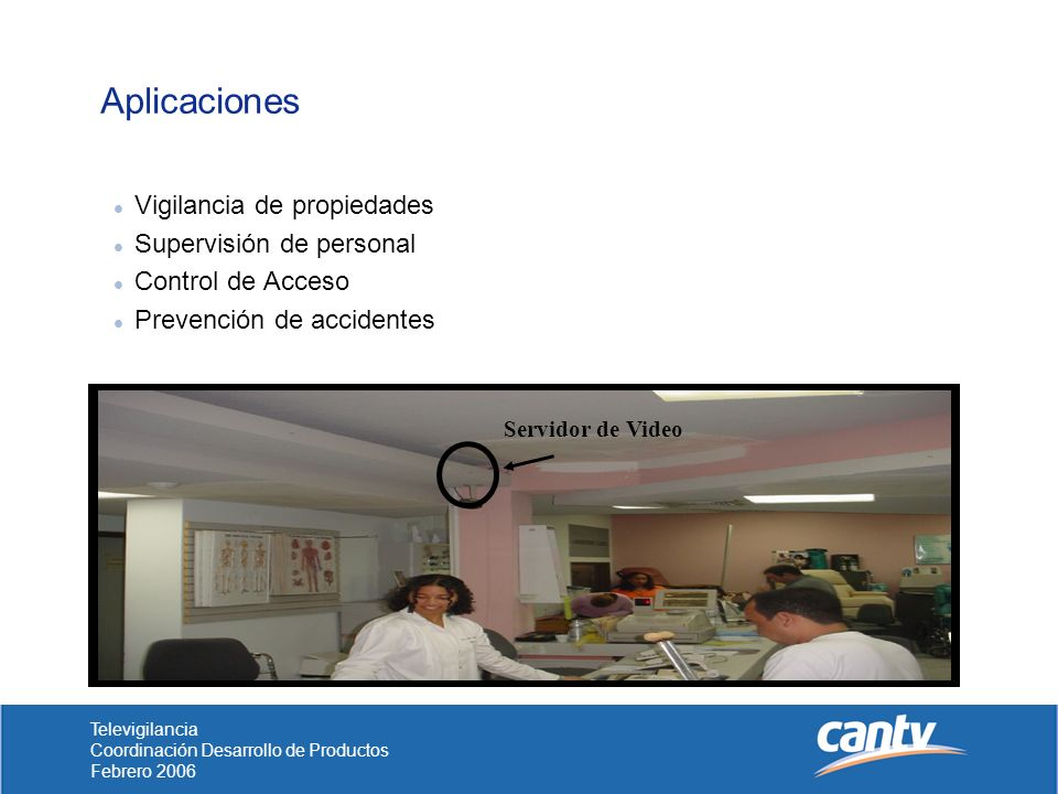 Aplicaciones Vigilancia de propiedades Supervisión de personal