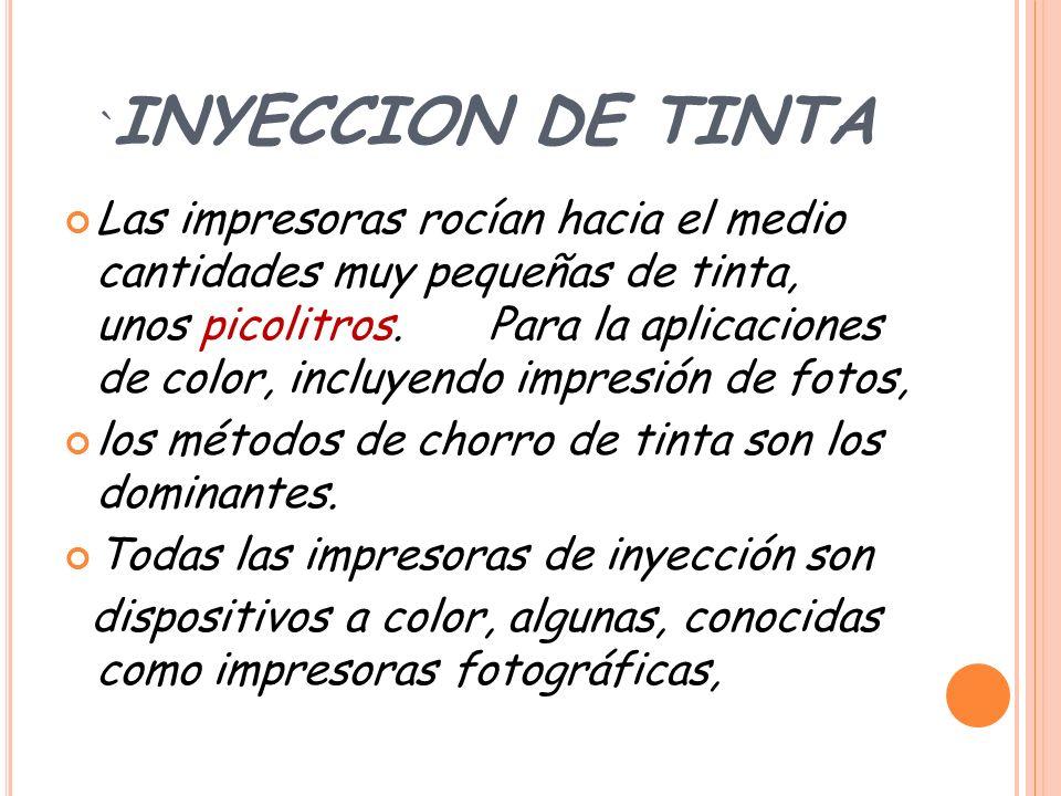 `INYECCION DE TINTA