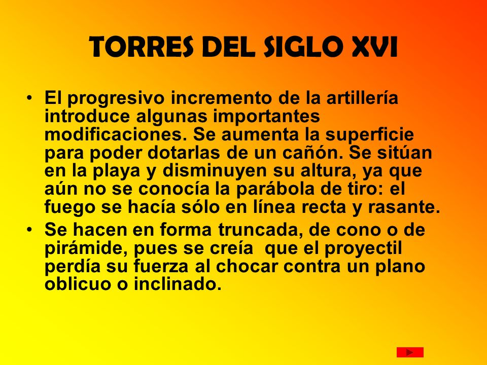 TORRES DEL SIGLO XVI
