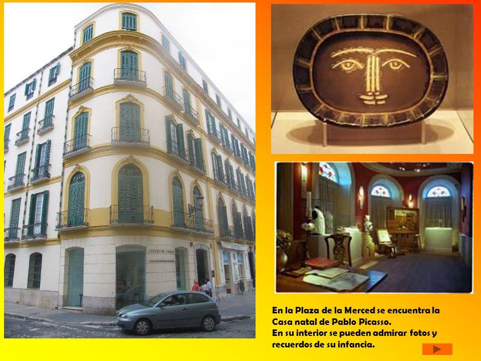 En la Plaza de la Merced se encuentra la Casa natal de Pablo Picasso.