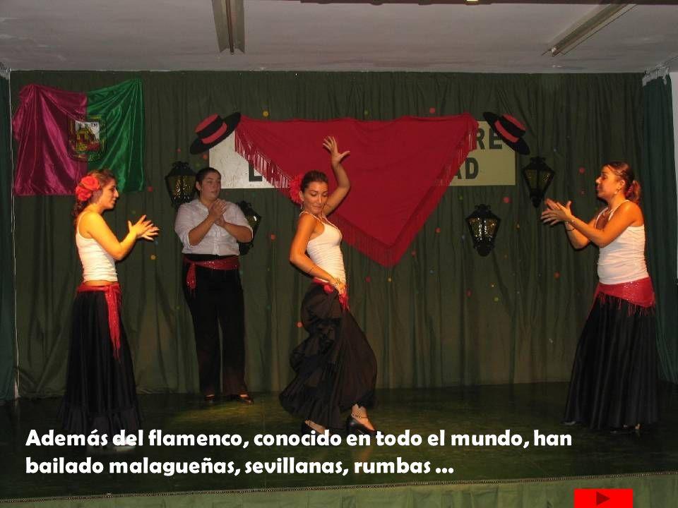 Además del flamenco, conocido en todo el mundo, han bailado malagueñas, sevillanas, rumbas ...