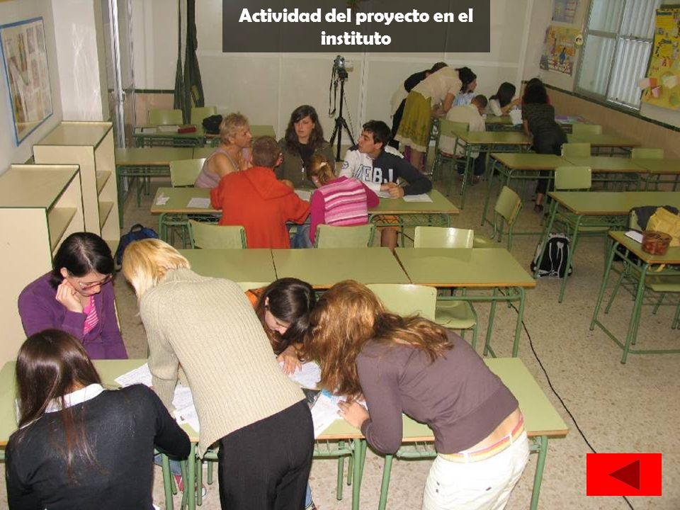 Actividad del proyecto en el instituto