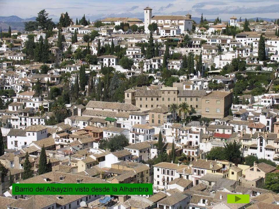 Barrio del Albayzín visto desde la Alhambra