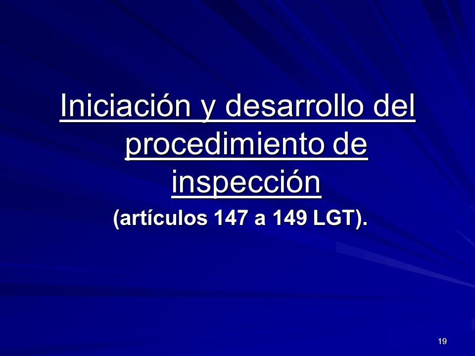 Iniciación y desarrollo del procedimiento de inspección