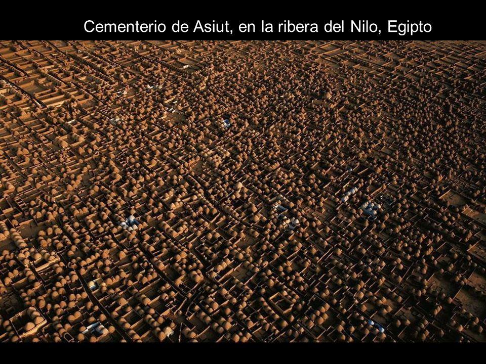 Cementerio de Asiut, en la ribera del Nilo, Egipto