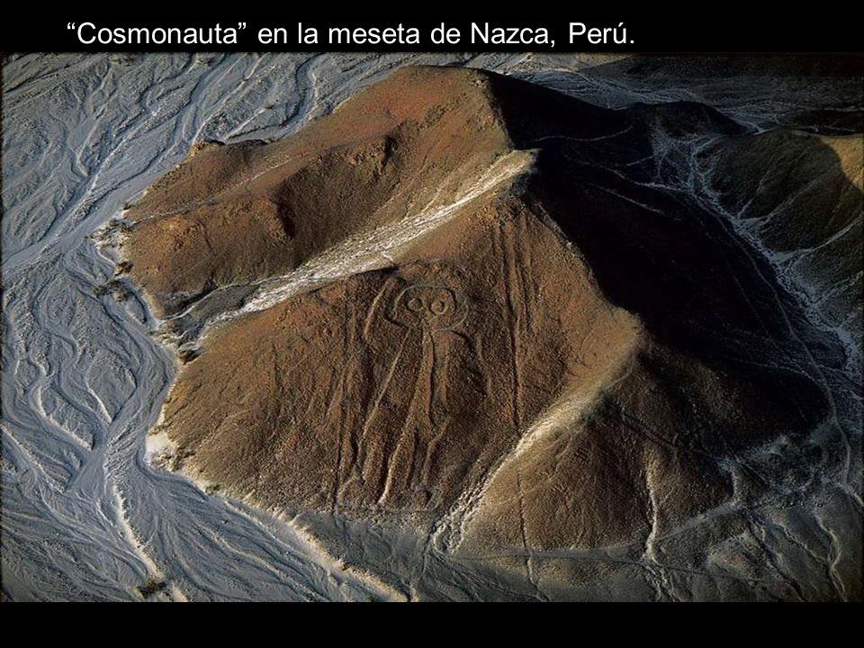 Cosmonauta en la meseta de Nazca, Perú.