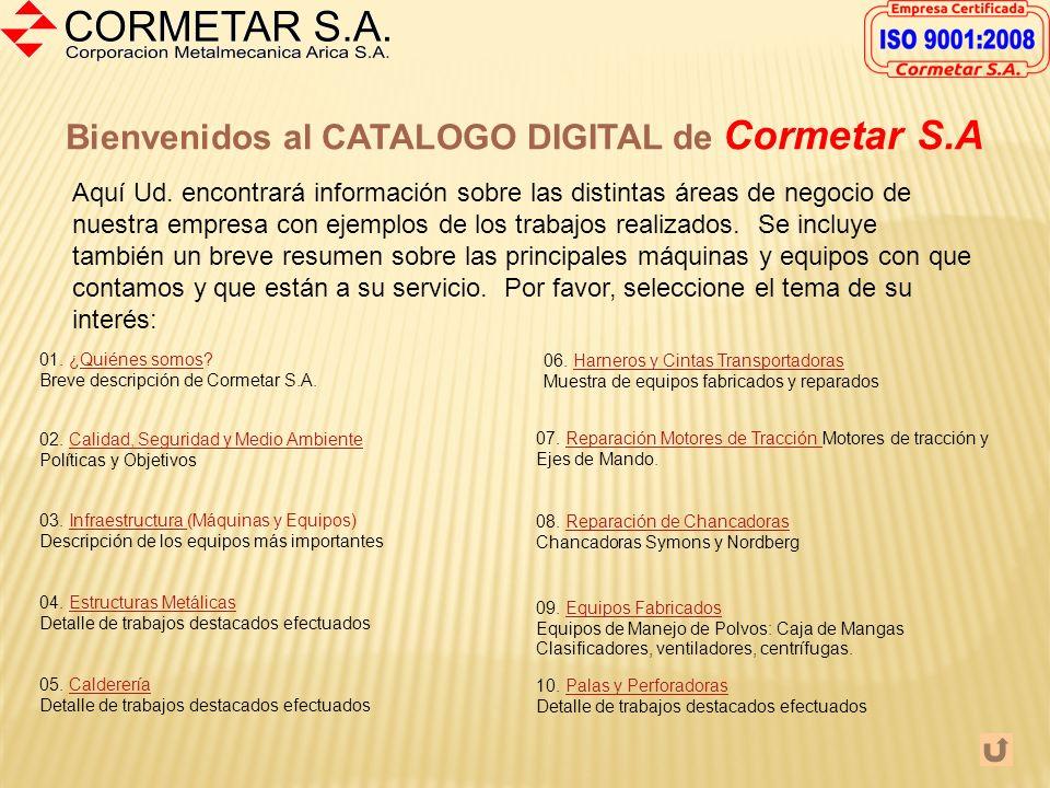 Bienvenidos al CATALOGO DIGITAL de Cormetar S.A