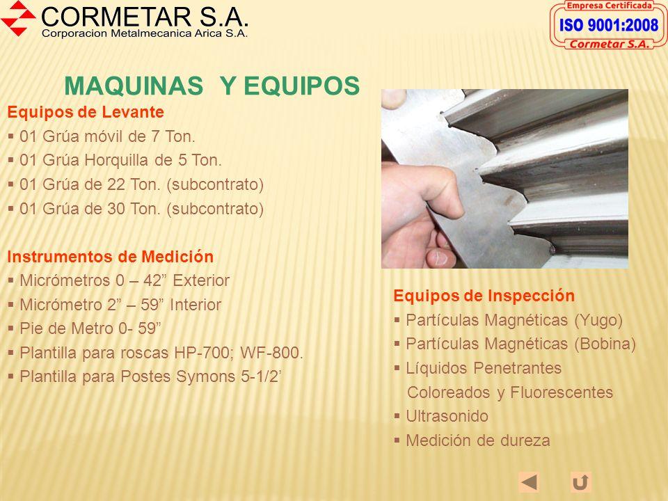 MAQUINAS Y EQUIPOS Equipos de Levante 01 Grúa móvil de 7 Ton.