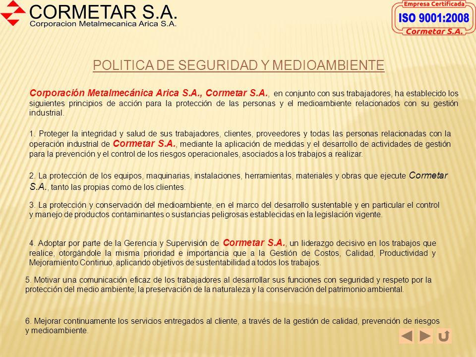 POLITICA DE SEGURIDAD Y MEDIOAMBIENTE
